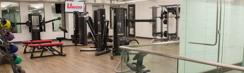 Unicus Fitness Facility Design Process with fitness equipment