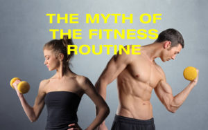 Couple working out for the myth of the fitness routine cover image